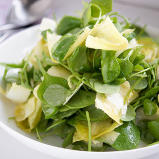 Winter Purslane Salad with Belgium Endive