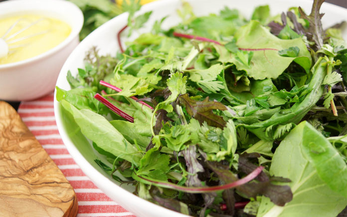 Wild Salad Greens & Herbs in a Lemon Dressing