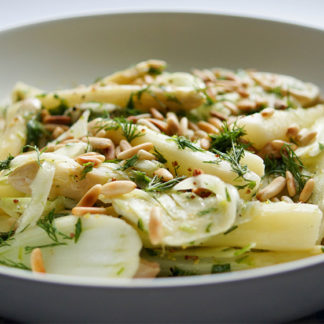 Spargel-Salat mit Fenchel