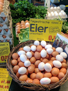 Market fresh eggs