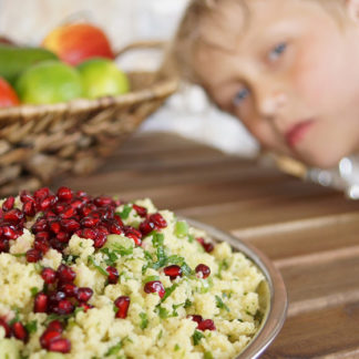 Lemon and Parsley Couscous with Pomegranate