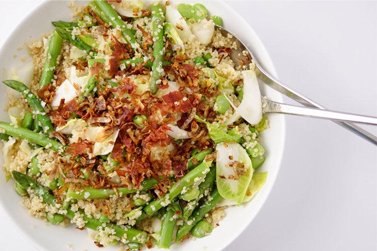 Asparagus and Fava Bean Quinoa Salad