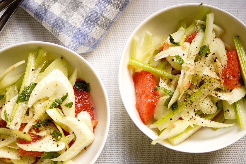 Fenchel-Salat mit Grapefruit und Sellerie von Ellerepublic.de