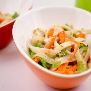 Carrot Kohlrabi Salad