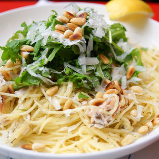 Pasta with Smoked Trout in a Creamy Lemon-Dill Sauce