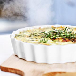 Quiche mit Spinat, Parmaschinken und Pilzen Rezept