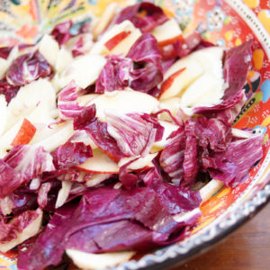 Fennel, Radicchio and Apple Salad in a Tangy Lemon Dressing