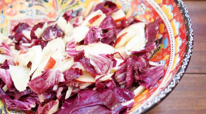 Fenchel-Radicchio-Salat mit Apfel in Zitronendressing