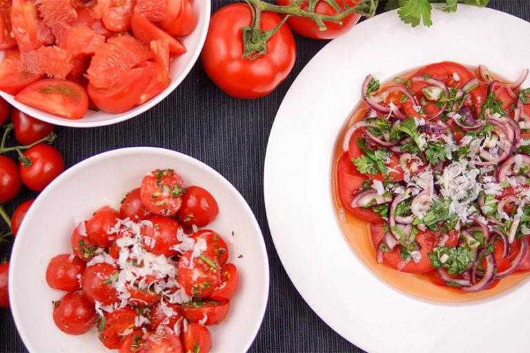 3 Variationen Tomatensalat