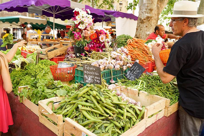 Aix-en-Provence - Täglich provenzalischer Markt.