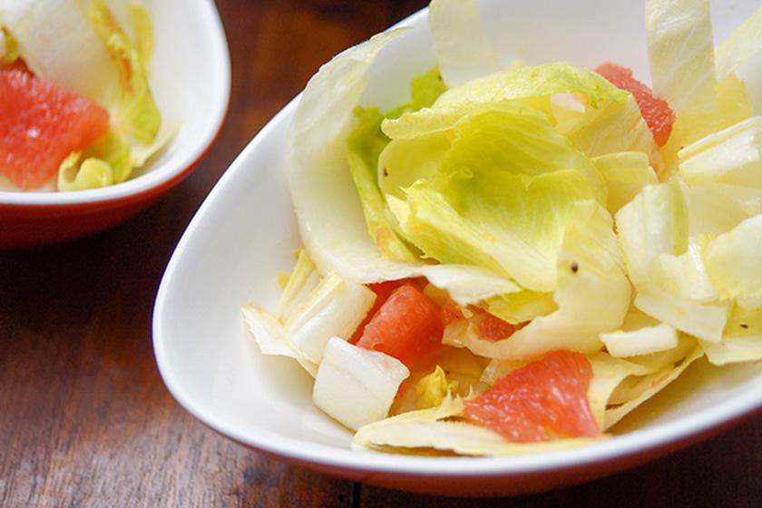 Chicorée (Endivien) Salat Rezept mit Grapefruit