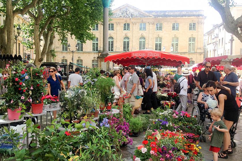 Aix-en-Provence provenzalischer Markt.