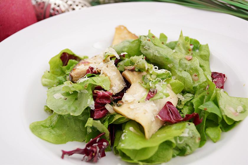Salat mit Kräuterseitling