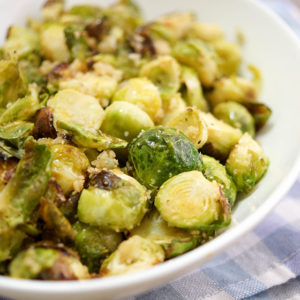 Roasted Brussels Sprouts with Breadcrumbs and Lemon