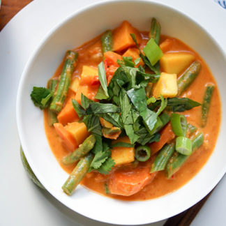 Sweet Potato Mango Red Thai Curry