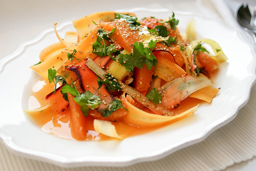 Carrot Ribbon Salad with Cara Cara Oranges