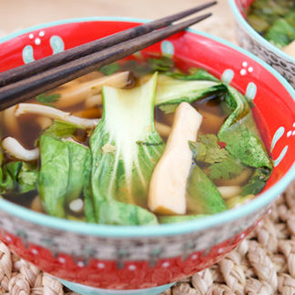 Spicy Asian Hotpot with Udon Noodles