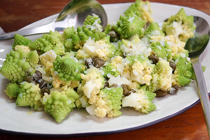 Sicilian-Style Romanesco with Capers and Lemon
