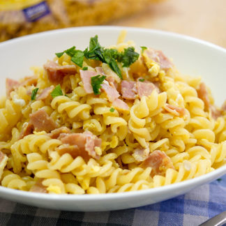 German Ham and Egg Noodles (Schinkennudeln)