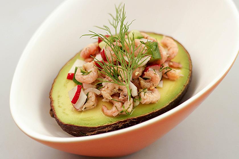 Avocado mit Büsumer Krabbensalat von Elle Republic