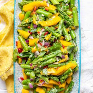 Spargelsalat mit Mango Rezept