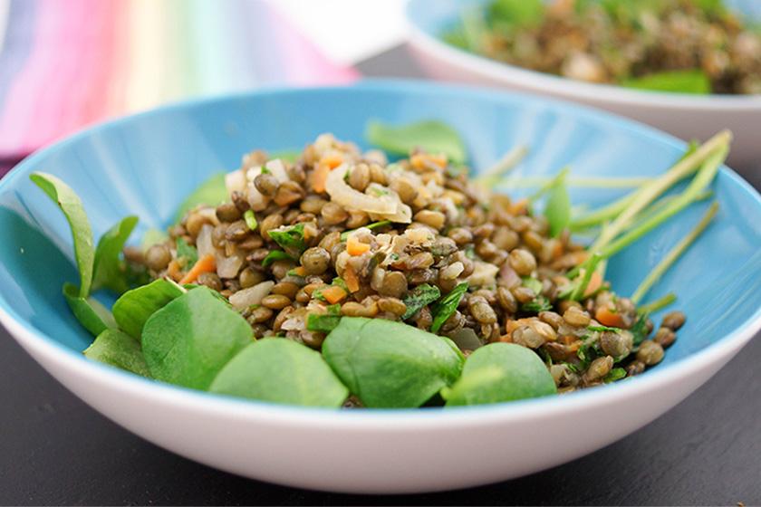 Linsen-Salat mit Postelein von Elle Republic