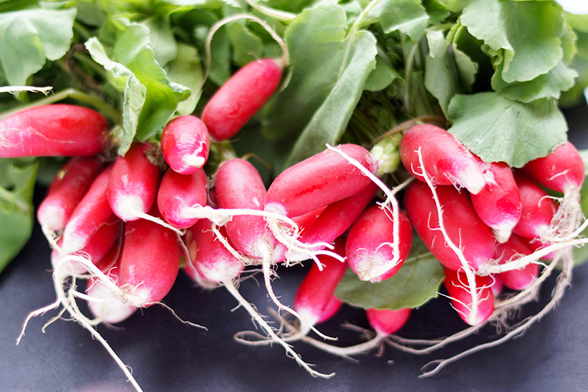 Radishes for Spring Radish Salad with Orange, Mint & Pine Nuts