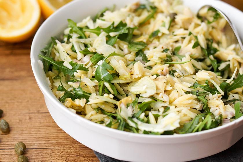Rezepte Salat mit geräucherter Forelle und Orzo von Elle Republic