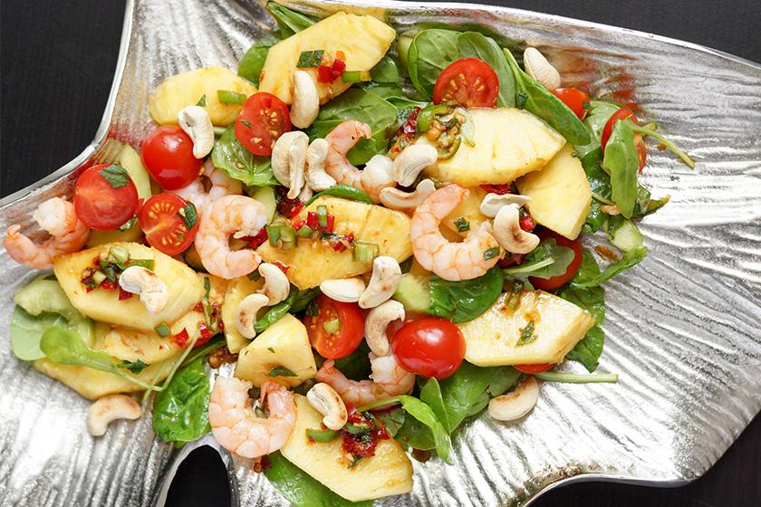 Spicy Thai Pineapple Salad