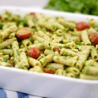 Überbackene Pesto-Nudeln