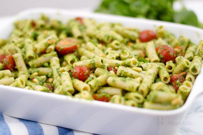 Easy Baked Pesto Pasta