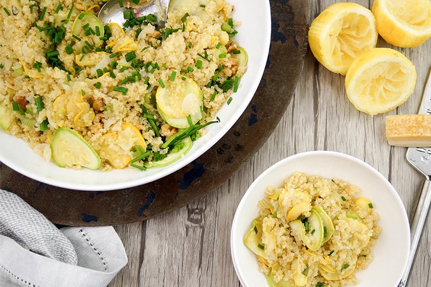 Quinoa mit Zucchini und Zitrone von Elle Republic