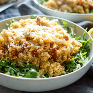 Warm Quinoa Salad with Sun-Dried Tomatoes