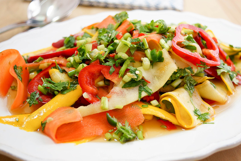 Spicy Thai Carrot and Zucchini Salad