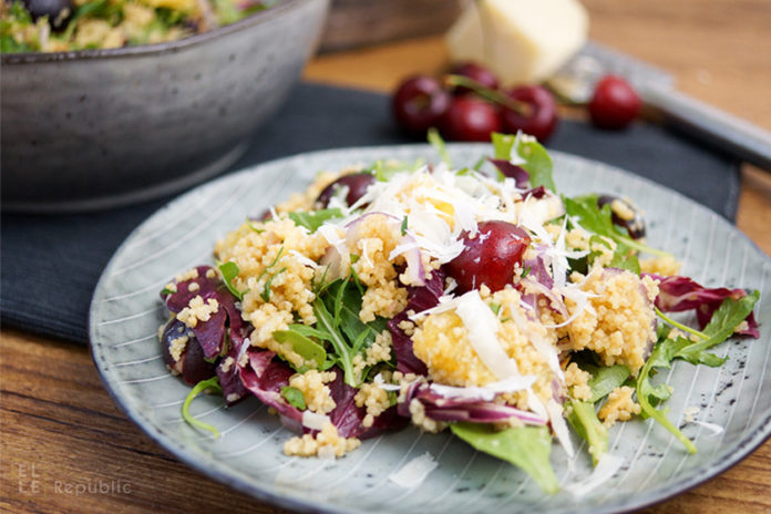 Orange-Infused Couscous with Cherries and Arugula