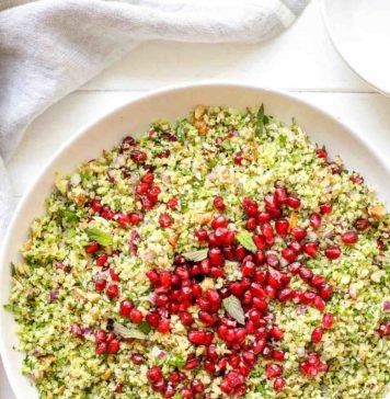 Brokkoli Taboulé mit gerösteten Nüssen