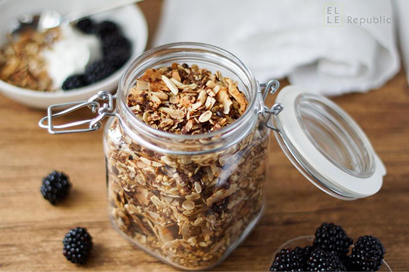 Carob Buckwheat Granola