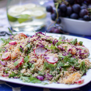 Couscous Salad with Oranges and Radishes