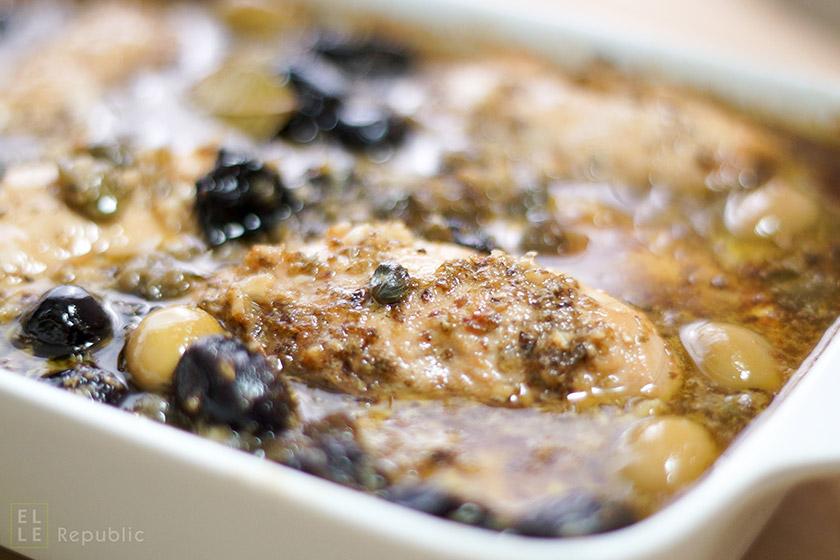 Chicken Marbella mediterrane Art, Hühnchen Huhn Eintopf  mit Oliven
