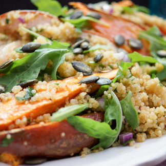Sweet Potato and Pear Salad with Quinoa