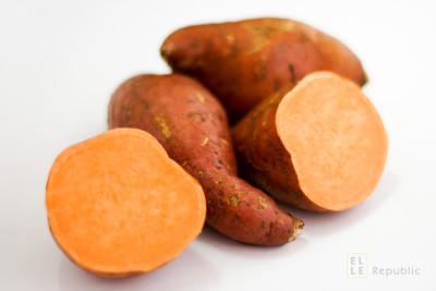 Süßkartoffeln für Vegetarisches Rotes Thai Curry