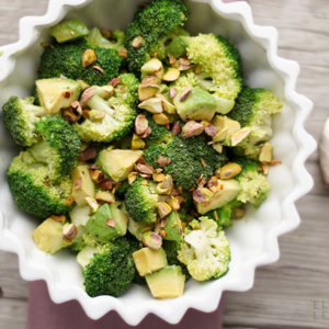 Avocado and Broccoli Salad with Pistachios