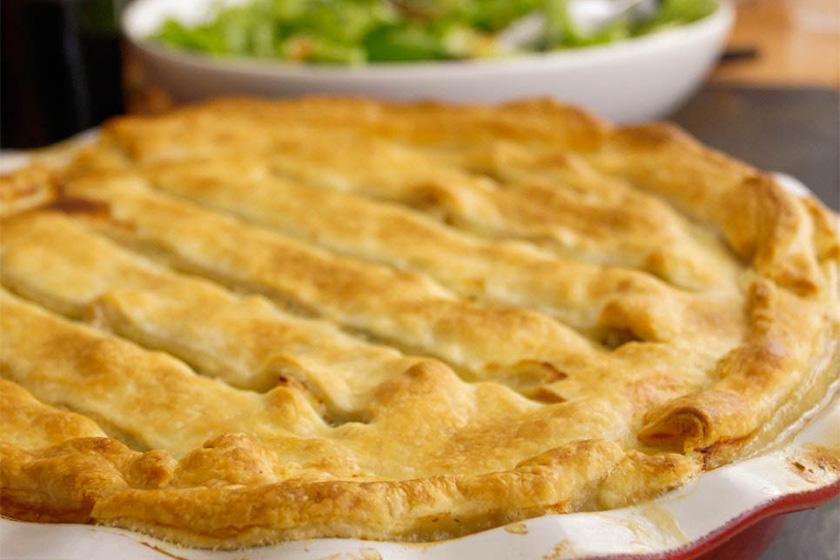 Puten Kartoffel Pot Pie, Hähnchen à la King, Chicken Pot Pie