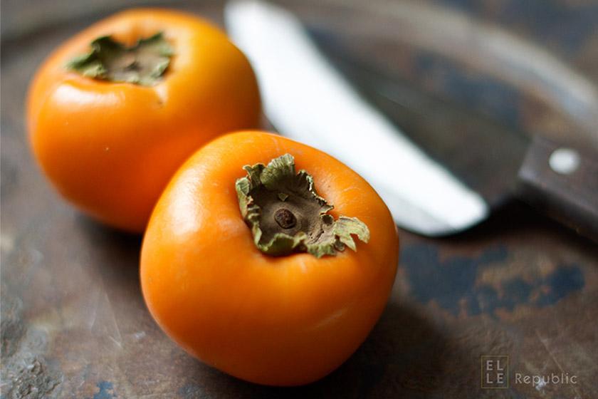 Sumach Linsen mit Persimonen, Sharon, Kümmel, proteinreiches vegetarisches Rezept, abnehmen, Diät, low fat