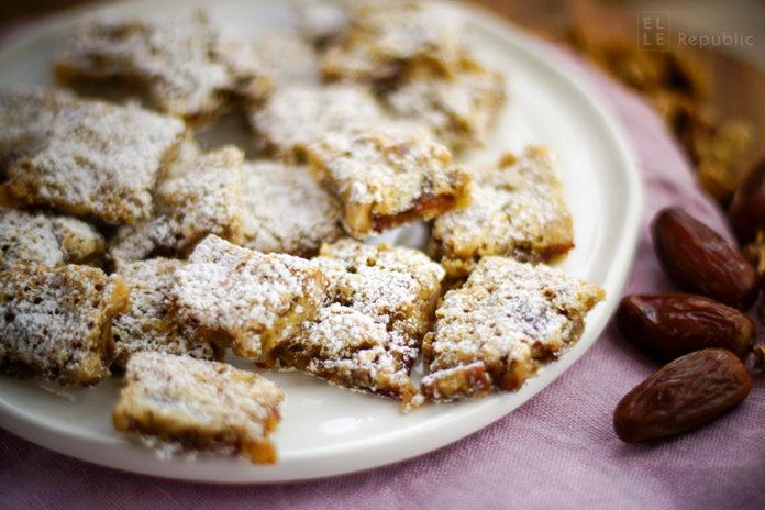 Chinese Chews Kuchenecken Rezept, Weihnachtsgebäck, Datteln, Cookies