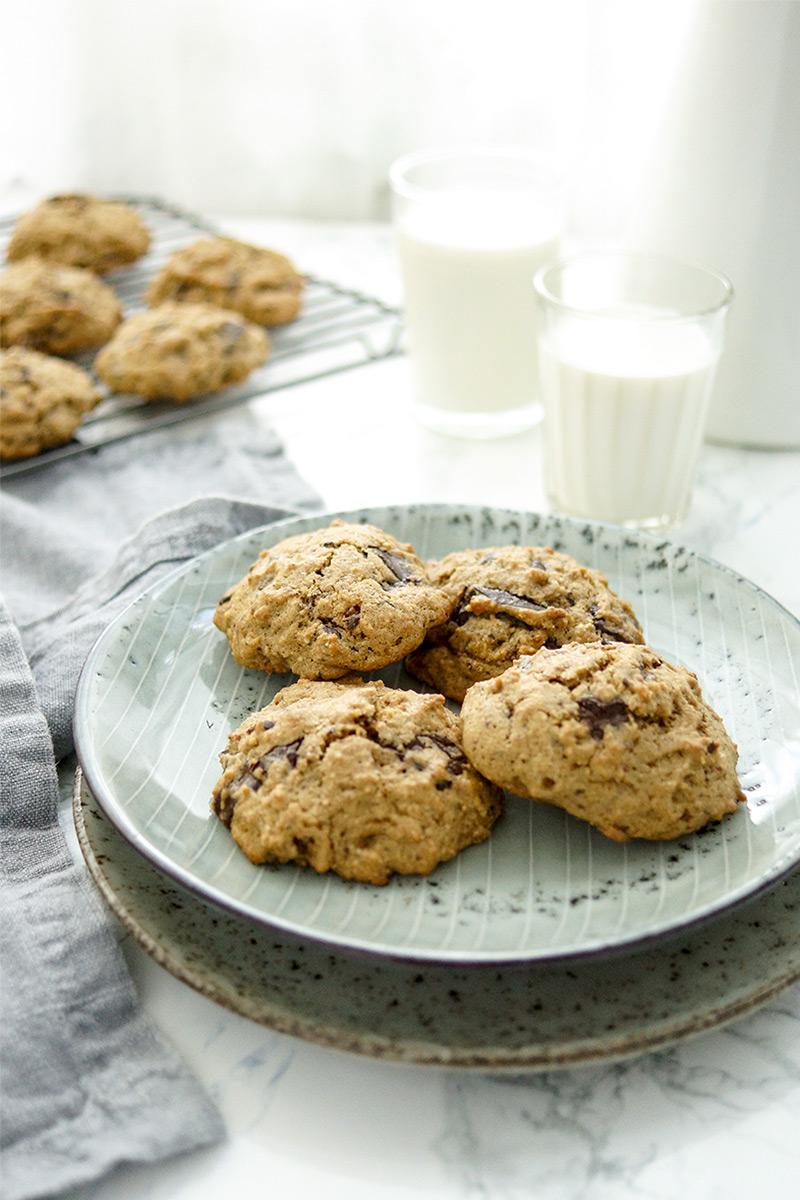 einfaches Rezept für leckere Chocolate Chip Cookies nach amerikanischer Art