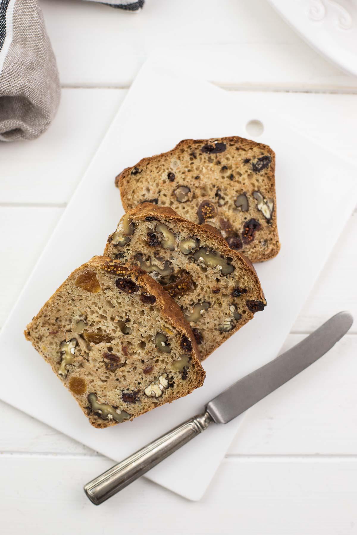 Fruit Nut Loaf With Spelt Flour Recipe Elle Republic