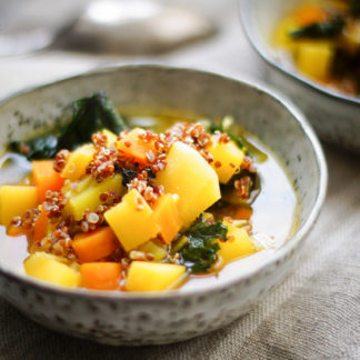 Rutabaga Stew with Quinoa & Saffron