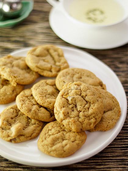 Ingwer Kekse mit frischem Ingwer, kandierten Ingwer und gemahlenen Ingwer, Gebäck, Backen