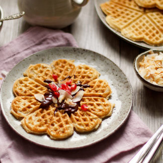 Whole Wheat Oatmeal Waffles with Buttermilk